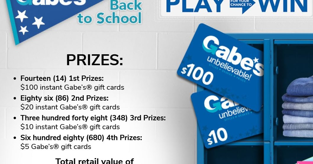 gabes sweepstakes