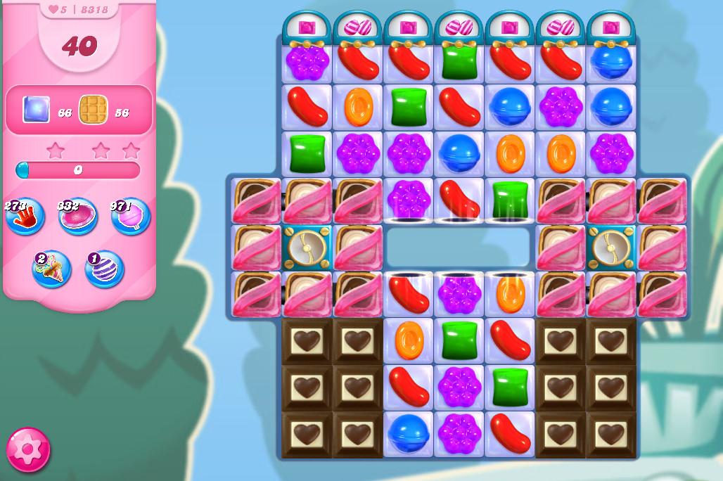 Candy Crush Saga level 8318
