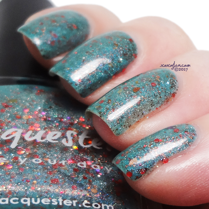 xoxoJen's swatch of Lacquester Poppy Like It's Hot