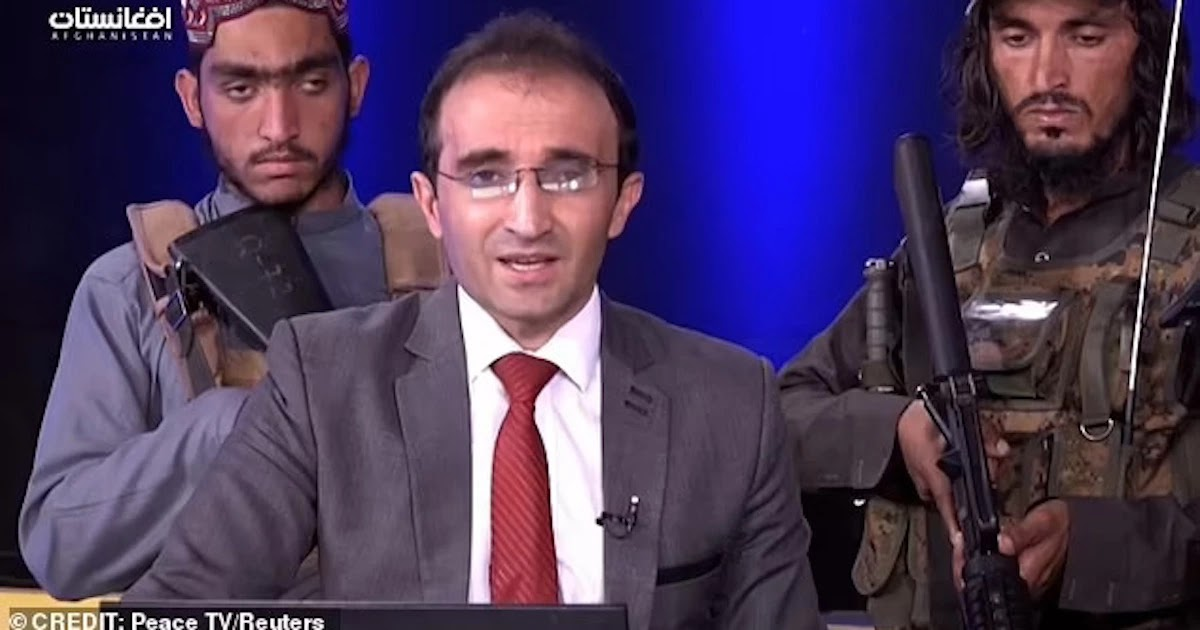 Afghan News Reporter Is Forced To Praise The Taliban Regime On Live TV As He Is Surrounded By Gunmen
