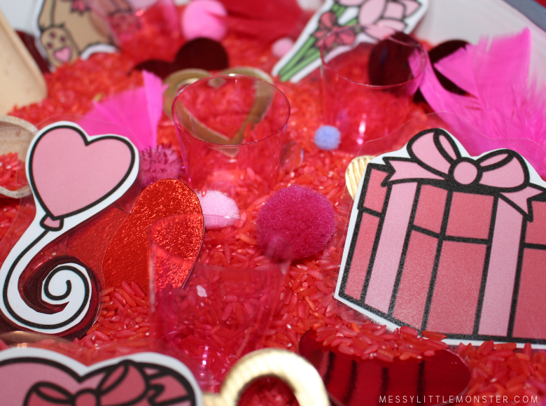 valentines day sensory bin ideas