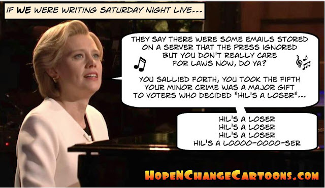 obama, obama jokes, political, humor, cartoon, conservative, hope n' change, hope and change, stilton jarlsberg, snl, hillary, hallelujah, leonard cohen, saturday night live
