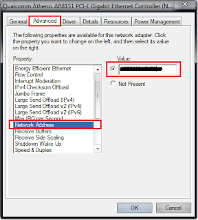 Mengganti Mac Address di Komputer Atau Laptop Tanpa Software