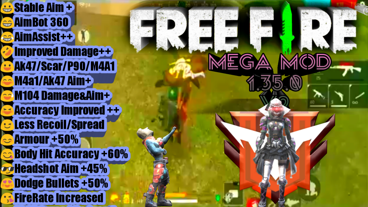 Fantastic Here Free Fire Mega Hack Mod Version 1350 V2