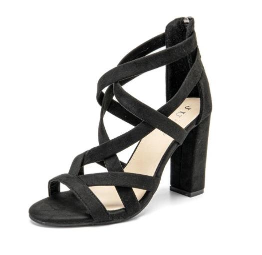 strappy heels black friday sale