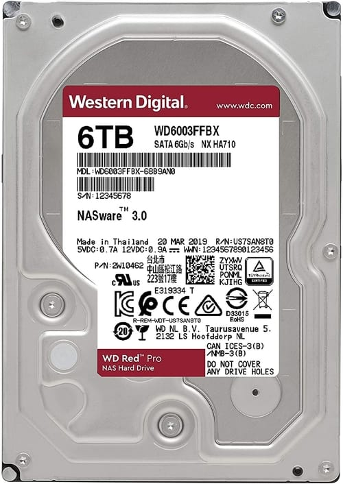 Review WD6003FFBX Red Pro 6TB NAS Internal Hard Drive