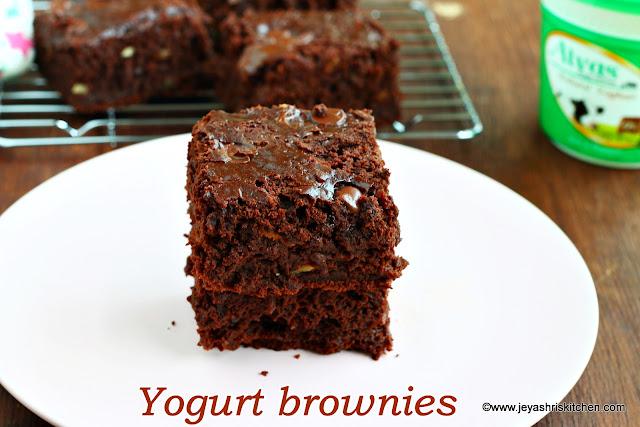 Yogurt-brownies