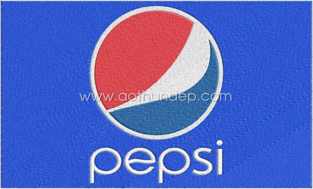 Pepsi computerized embroidery logo