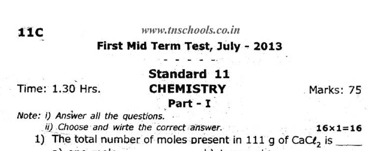 Chemistry Midterm Study Guide Essay