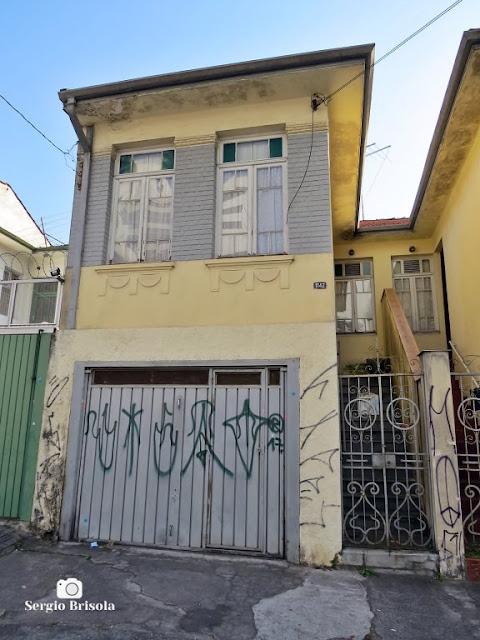 Vista ampla de uma Casa antiga na Rua Costa Aguiar - Ipiranga - São Paulo
