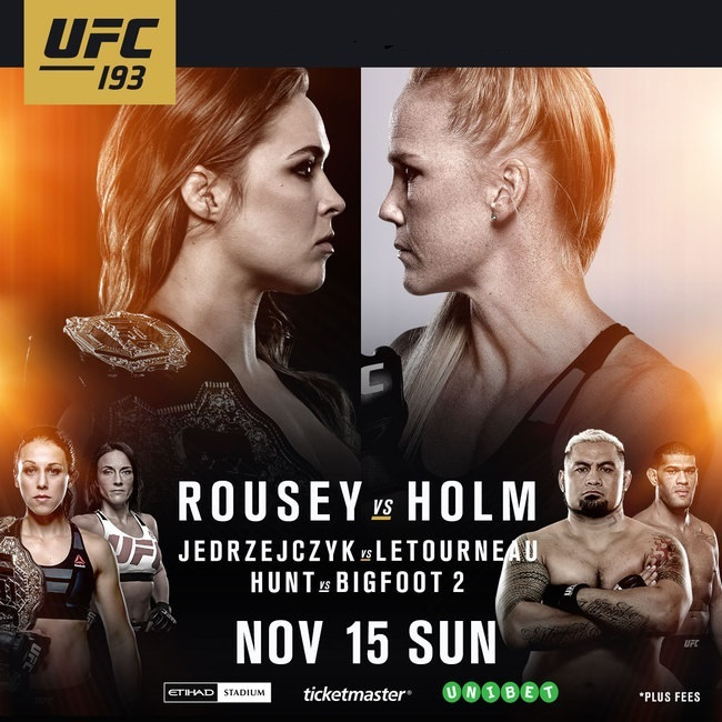 Watch UFC 193: Rousey vs. Holm Online Free Putlocker