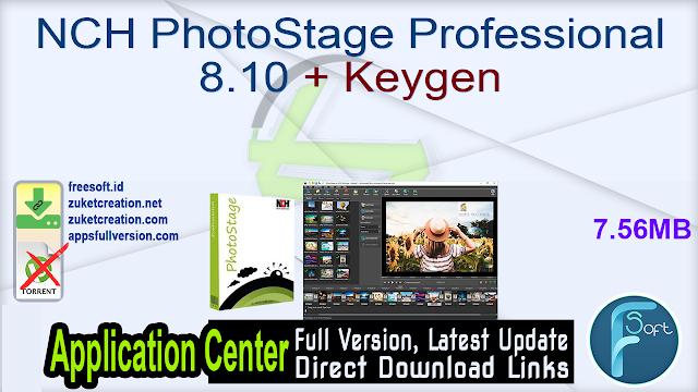 NCH PhotoStage Professional 8.10 + Keygen