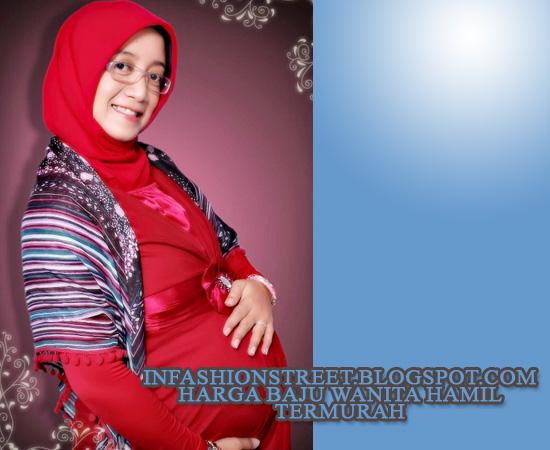 model baju ibu hamil keren ala islami