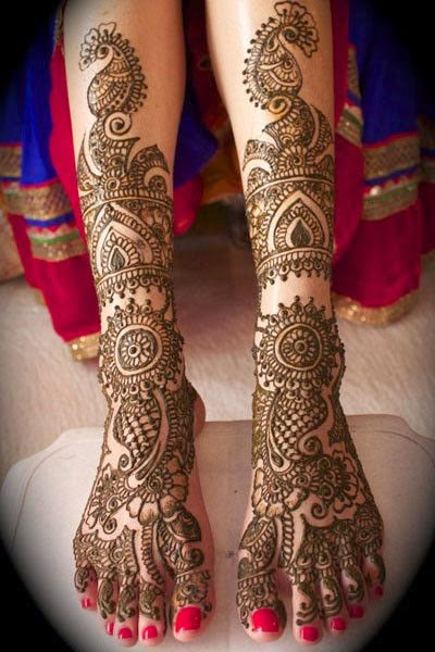 Mehndi Designs Legs 2014 Pictures New Mehndi Designs