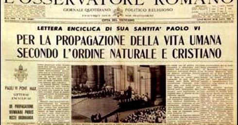 A 50 anni dalla pubblicazione di humanae vitae. verità fedeltà e
