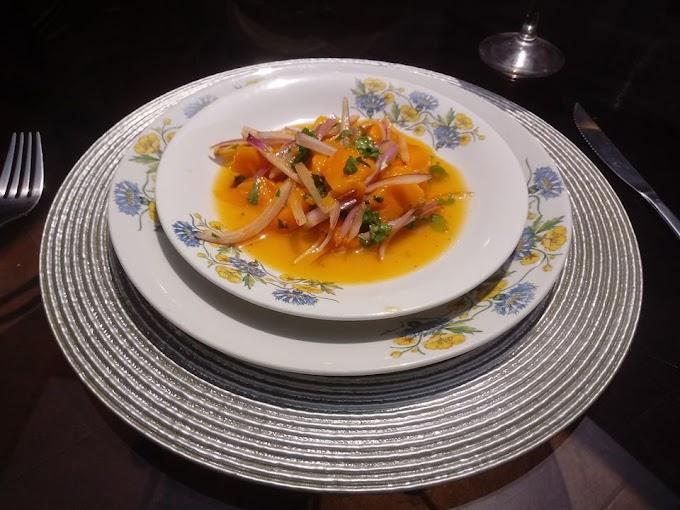 Ceviche de Mango exquisita comida peruana