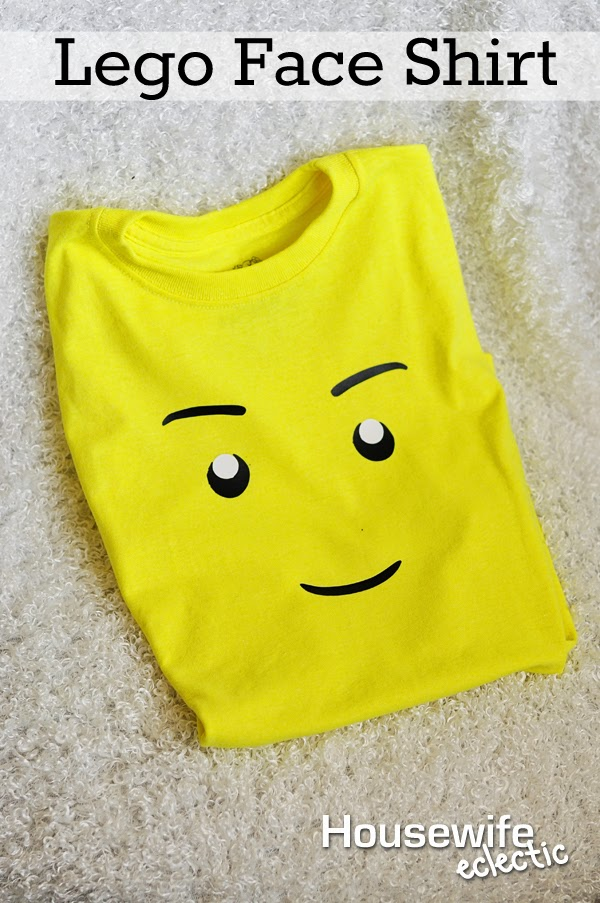 Housewife Eclectic: Lego Face Shirt