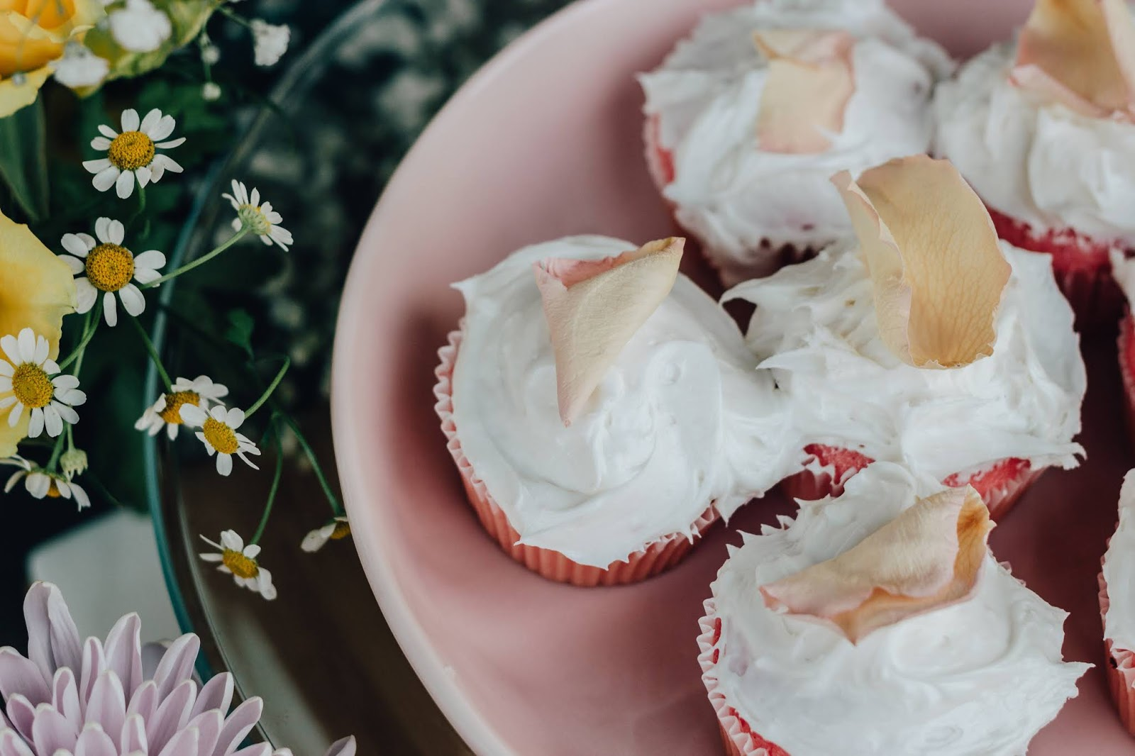 Pink Rose Cupcakes Recipe With Gran Moraine