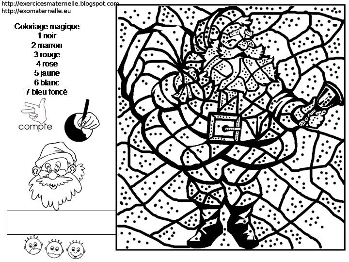 maternelle coloriage magique le p re no l. Black Bedroom Furniture Sets. Home Design Ideas