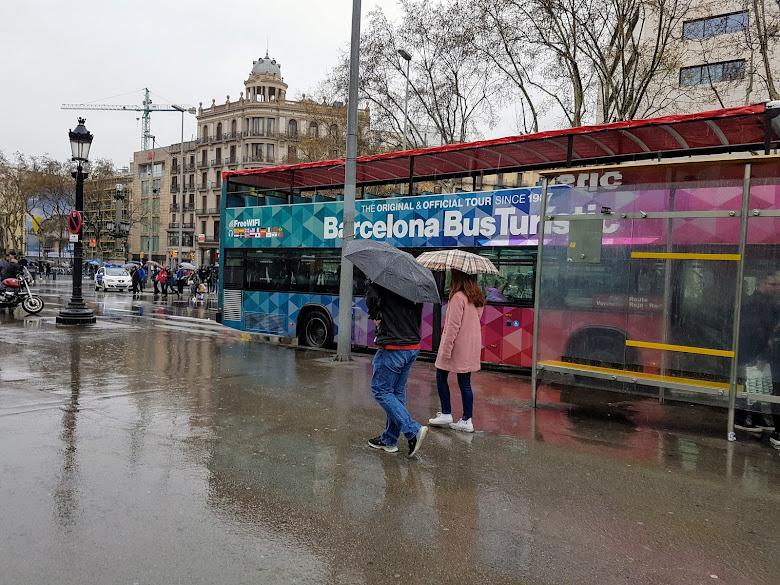 路上的街景,觀光巴士票價非常高呢