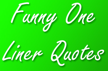 Funny One Liner Quotes - QuoteGanga