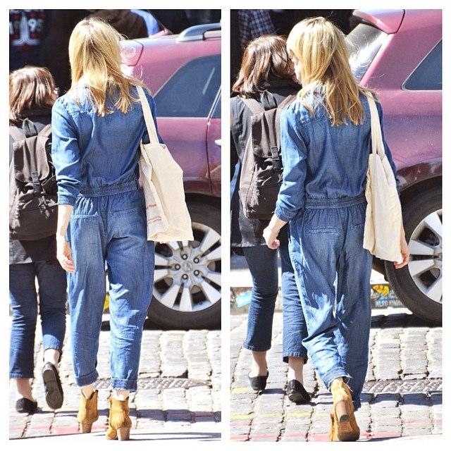 jeans jumpsuit kombinieren