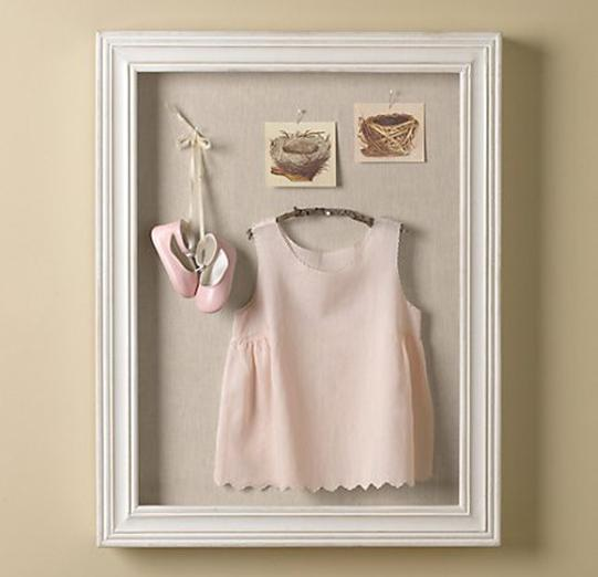 Baby Shadow Box Clothes