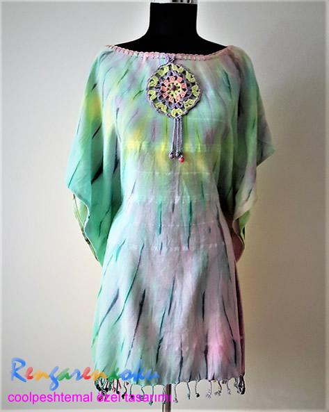 batik peştemal elbise