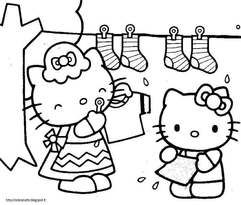 Hello Kitty Disegno Da Colorare N.10