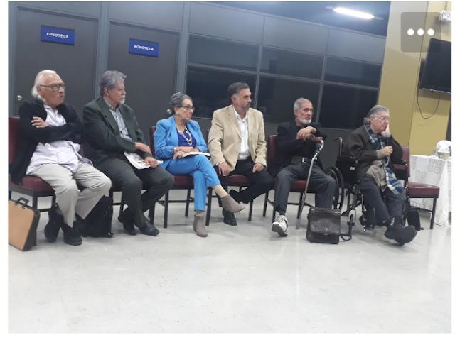 Autores presentes en el Conversatorio Poético en la Biblioteca  Nacional Miguel Obregón Lizano