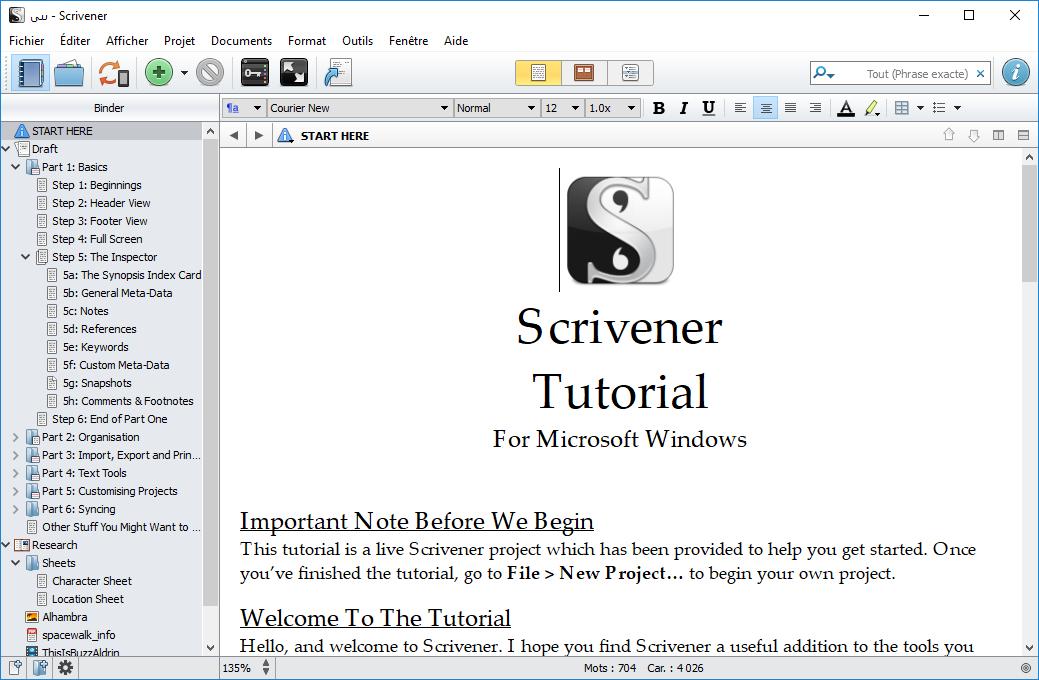 تحميل برنامج لإنشاء المحتوى تتيح للكتاب التركيز على كتابة وتنظيم المستندات الطويلة والصعبةScrivener 1.9.14.0
