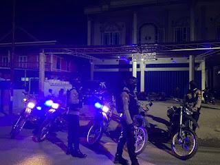 Cegah Gangguan Kamtibmas Unit Patmor Satuan Sabhara Polres Enrekang Laksanakan Patroli Biru