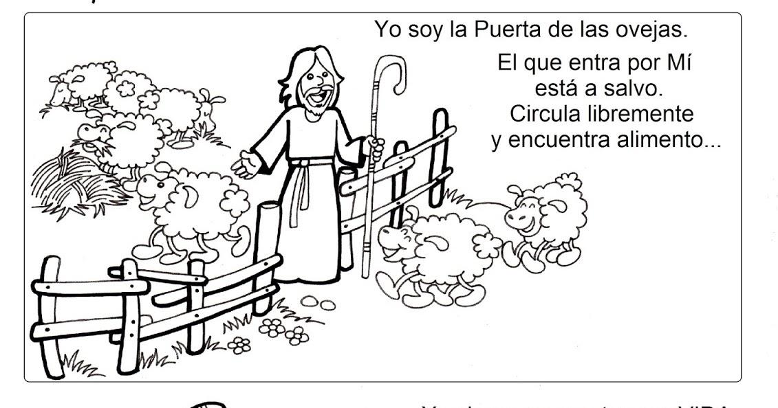 Dibujos Para Colorear De Jesus El Buen Pastor Yo Soy El Buen
