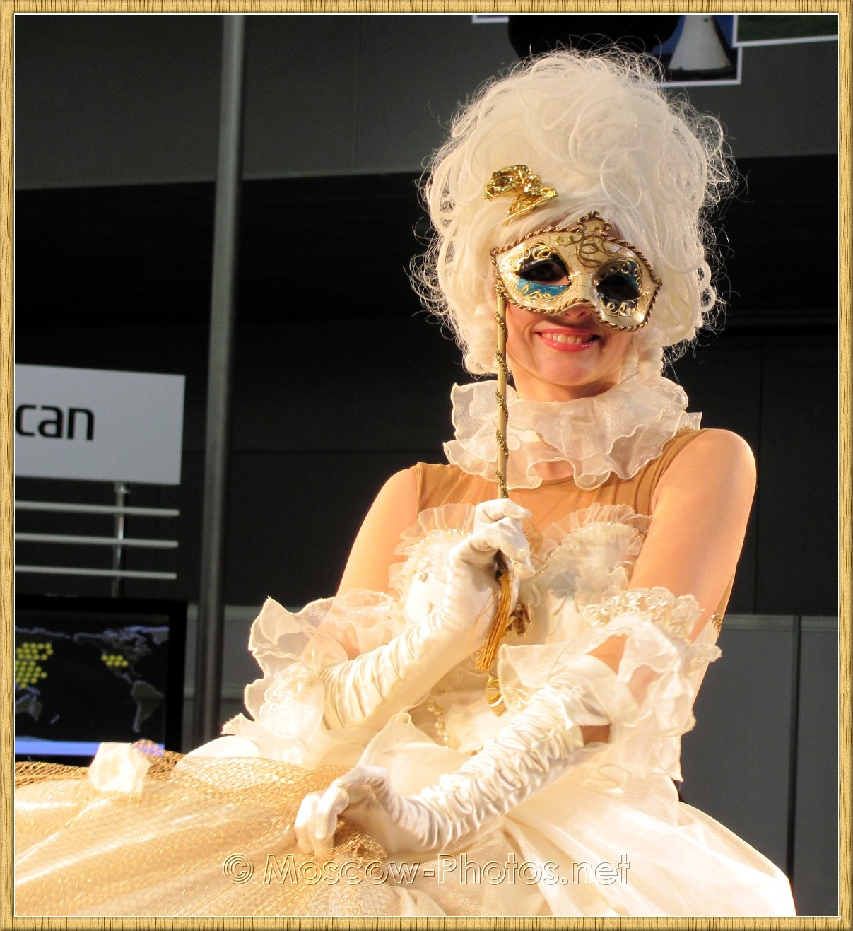 Girl in mask and ball gown Photoforum