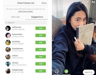 Apa itu Close Friend di IG Instagram, Tujuan Close Friend Teman Dekat Instagram, Tips Stories