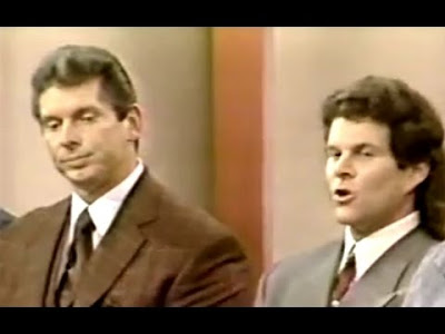 Vince McMahon during the 1994 WWF steroid trial.