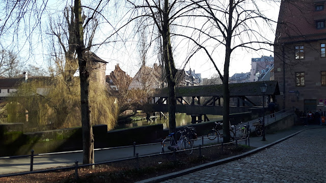 Nuremberg street by the river