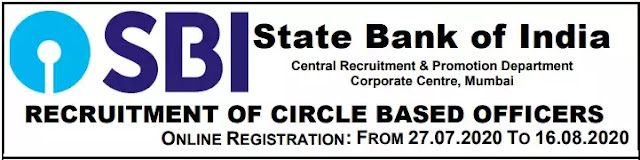 Circle Based Officers Recruitment in SBI 2020