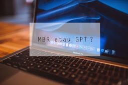 Cara Mengetahui Jenis Partisi Hardisk, Tipe MBR atau GPT ?