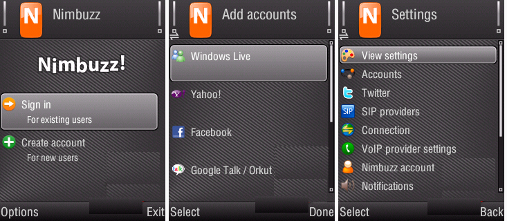 nimbuzz for nokia e51