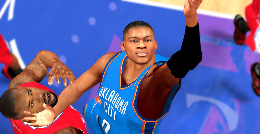 NBA 2K14 Russell Westbrook Cyberface Next-Gen to PC Mod