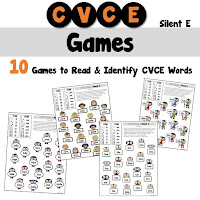 CVCE Dice Games Silent e Words