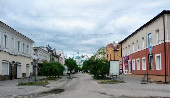 Сумы. Воскресенская ул. Пешеходная зона
