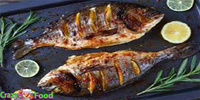سمك مشوى فى الفرن