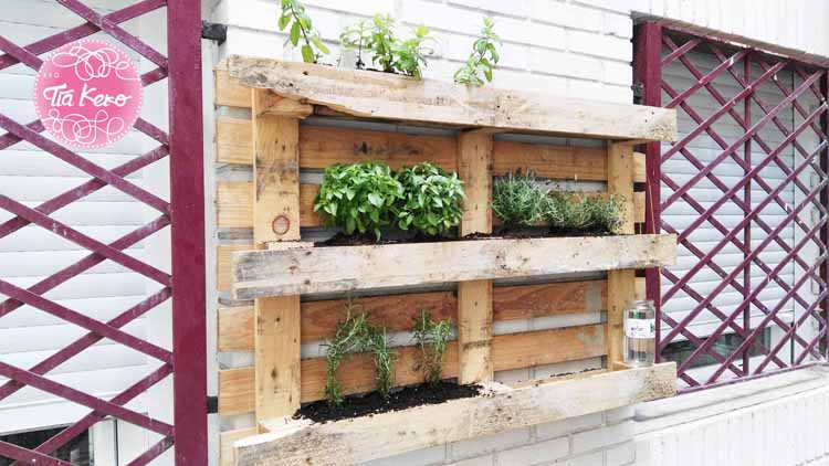 Nuestro jard n vertical - Jardin vertical con palets ...