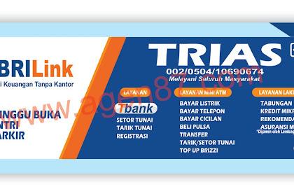 Spanduk BRI link & X banner BRI link Free Download CDR