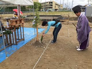 注文住宅 三重県 自然素材 全館空調の家 地鎮祭 (株)みのや