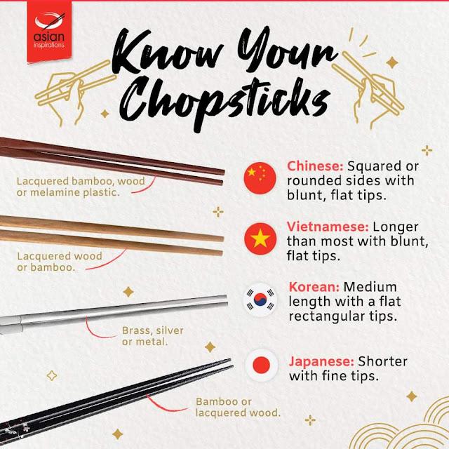 bedanya sumpit korea, jepang, dan china