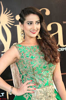 Manjusha in Beautiful Sleeveless Green Anarkali dress at IIFA Utsavam Awards 90.JPG