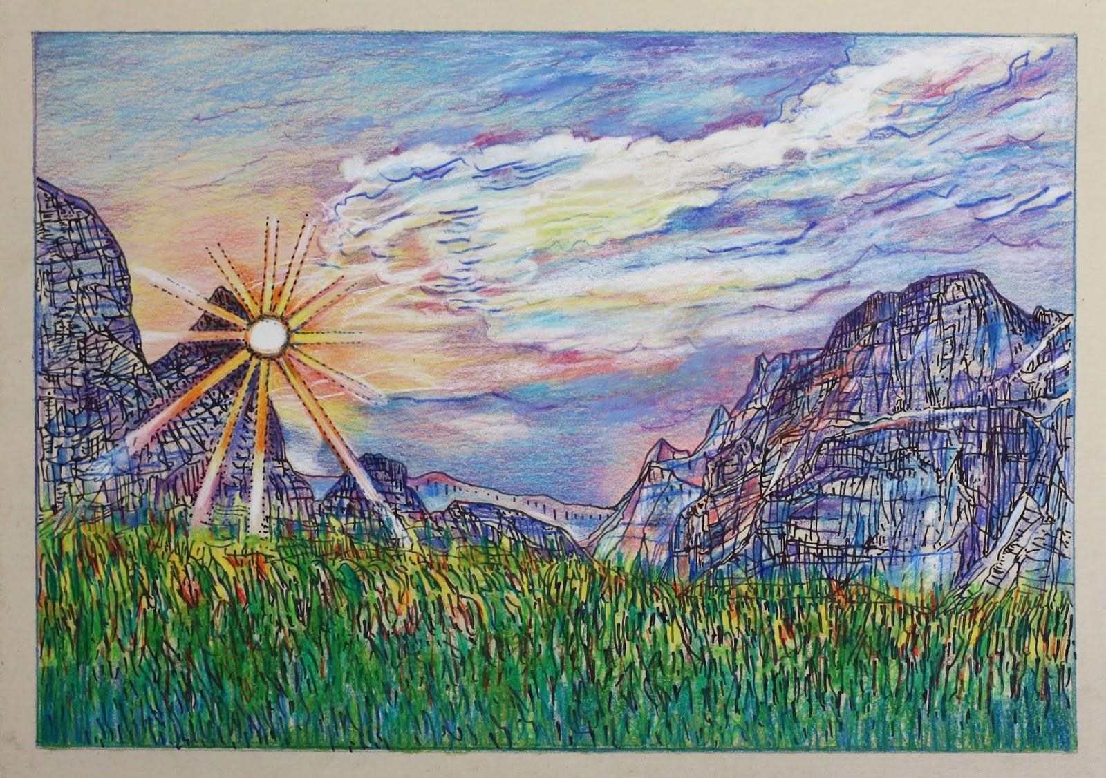 Clementine Feuillet Dessin Paysage Drawing Landscape 2018